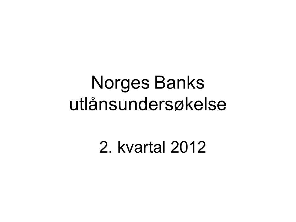 Norges Banks utlånsundersøkelse 2. kvartal 2012