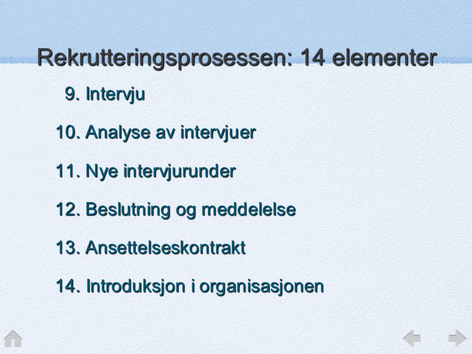 9.Intervju 9. Intervju 10. Analyse av intervjuer 11.