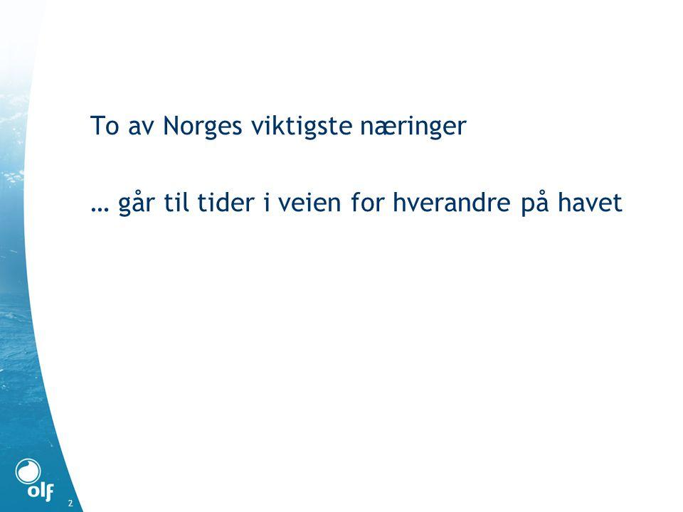 To av Norges viktigste næringer … går til tider i veien for hverandre på havet 2