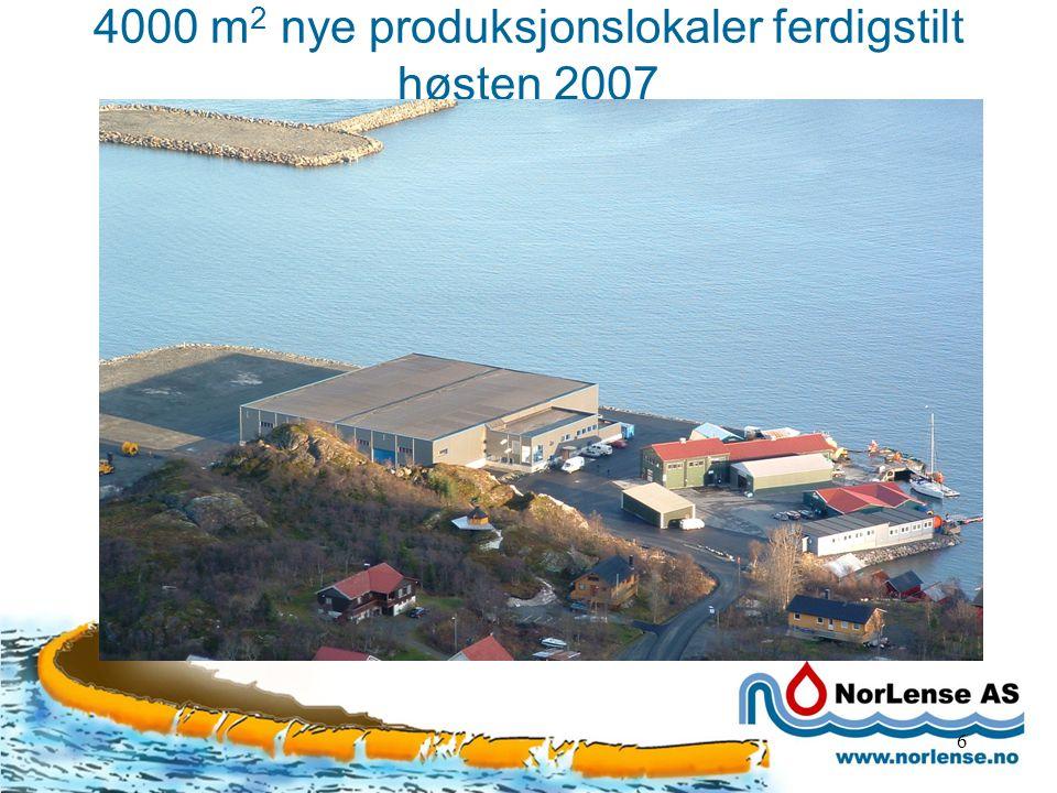 4000 m 2 nye produksjonslokaler ferdigstilt høsten 2007 6