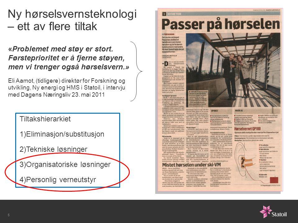 Støy og hørsel: Oversikt over FoU-prosjekter Hearing Conservation (2006-2007) Mulighetsstudie; teknologi og metoder Hydro, Sintef, Nacre, UiB og NFR SoHot (2007-2010) Sikkerhet Offshore for Hørsel Og Talekommunikasjon Teknologiutvikling StatoilHydro, Sintef, Nacre, NTNU og NFR SLASH (2010-2011 + 2013) System for LAgring av Støy- og Hørseldata Utvikling av database og grafisk brukergrensesnitt Statoil og Sintef MENO (2010-2012) Monitoring Ear response from NOise exposure Utvikling av metoder (basert på data fra pilotering) Statoil, Sintef, Nacre, NTNU, UiB og NFR NEXT STEP (Q3 2012-2016) Noise EXposure Tackled Safely Through Ear Protection Forskning basert på data fra pilotering Statoil, Sintef, Nacre, NTNU, UiB og NFR 6
