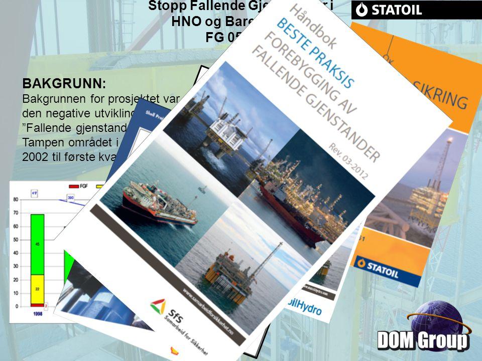Stopp Fallende Gjenstander i HNO og Barentshavet FG 05.2005 Oppsummeringsrapport fra prosjekt: Stopp Fallende Gjenstander i HNO og Barentshavet FG 05.