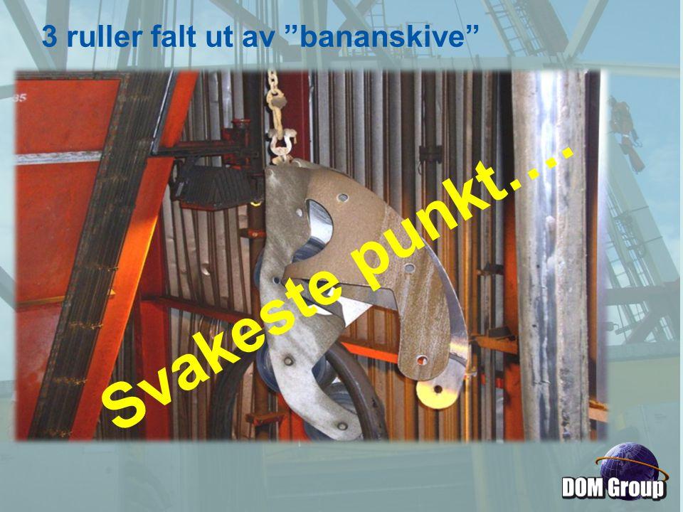 """Svakeste punkt…. 3 ruller falt ut av """"bananskive"""""""