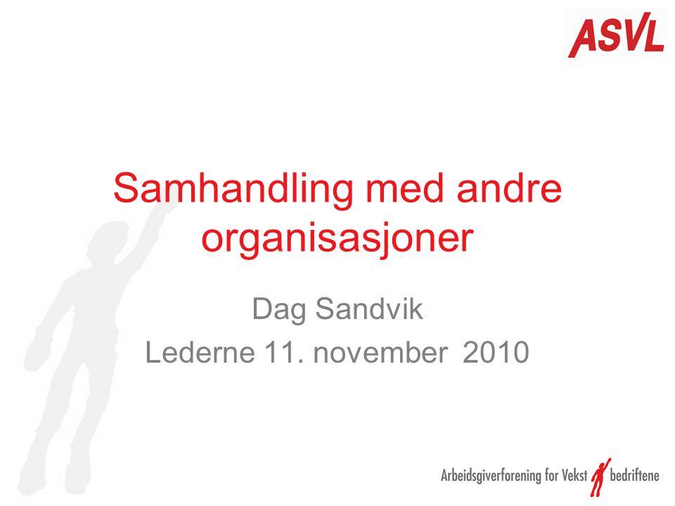 Samhandling med andre organisasjoner Dag Sandvik Lederne 11. november 2010