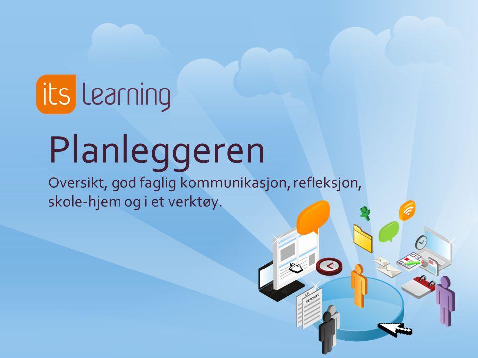 Planleggeren - kompetansemål og måloppnåelse Vi skal i nærmeste tid se på: -Hvordan du lager gode planer -Hvordan du tar i bruk planleggeren på pedagogiske måter -Hvorfor det er lurt å bruke kompetansemål -Hvordan planleggeren kan bidra til bedre måloppnåelse for elevene -Hvordan planleggeren kan bli et ypperlig kommunikasjonsverktøy med foreldre -Hvodan du synliggjør undervisningen og læringen til elevene Det beste med hele itslearning er planleggeren!