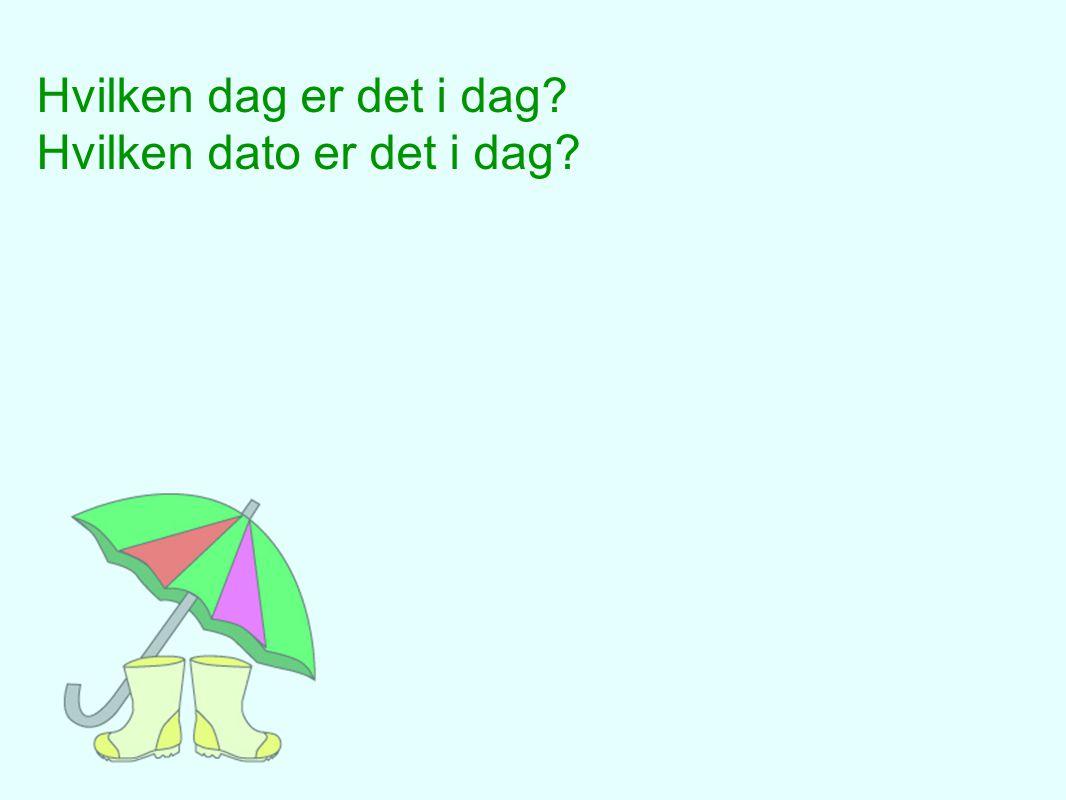 TIRSDAG 5.juni 1. Danmarks nasjonaldag 2.