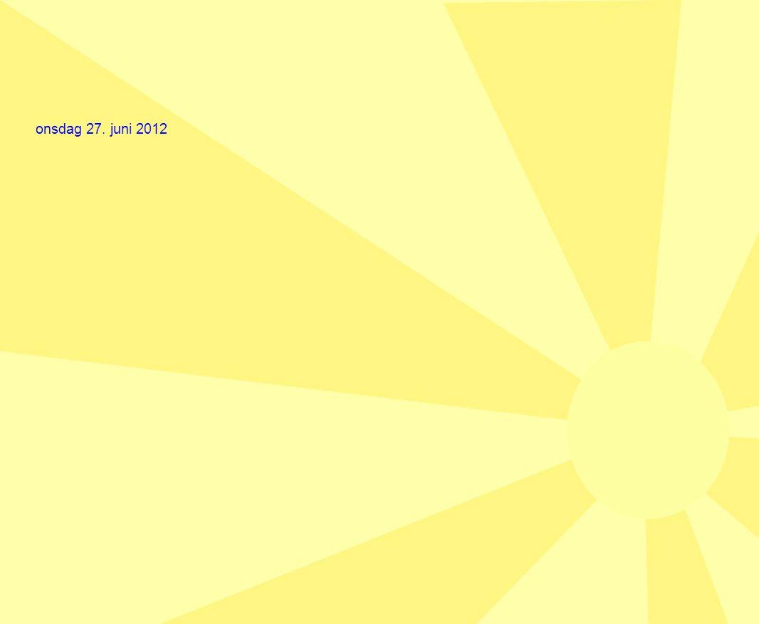 onsdag 27. juni 2012