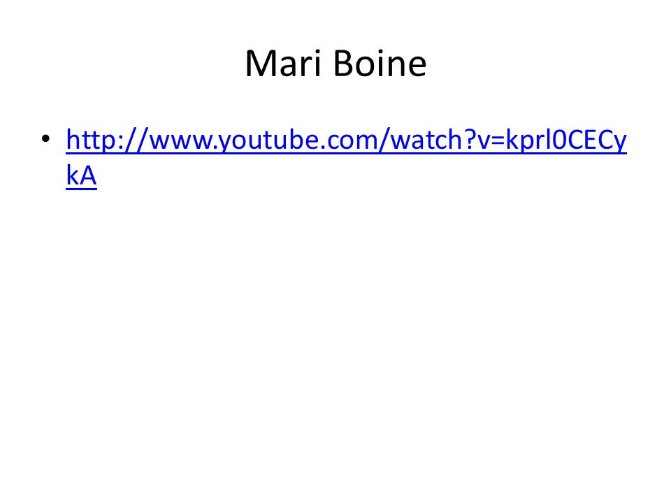 Mari Boine http://www.youtube.com/watch?v=kprl0CECy kA http://www.youtube.com/watch?v=kprl0CECy kA
