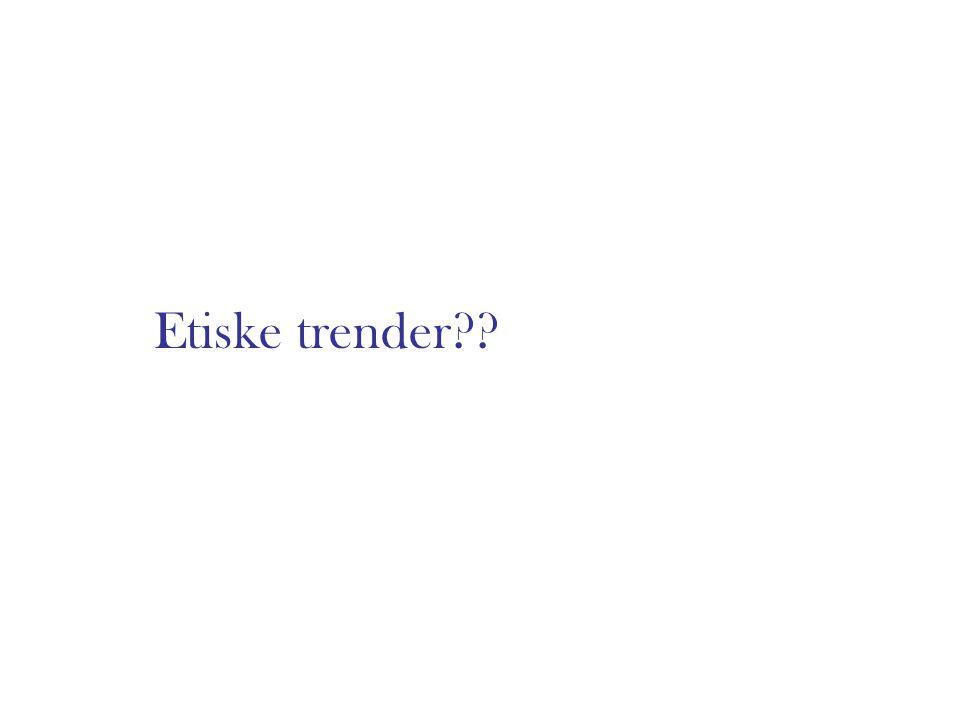 Etiske trender??