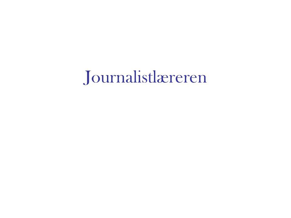 Journalistlæreren