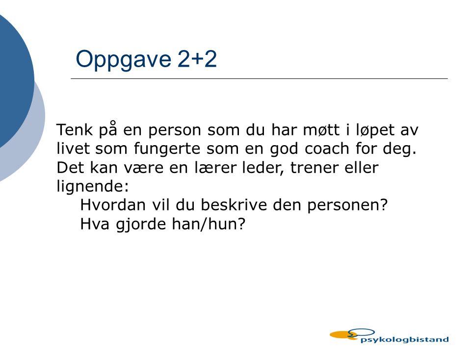 Stegene i Coaching 1.Skape kontekst - kontraktere 2.
