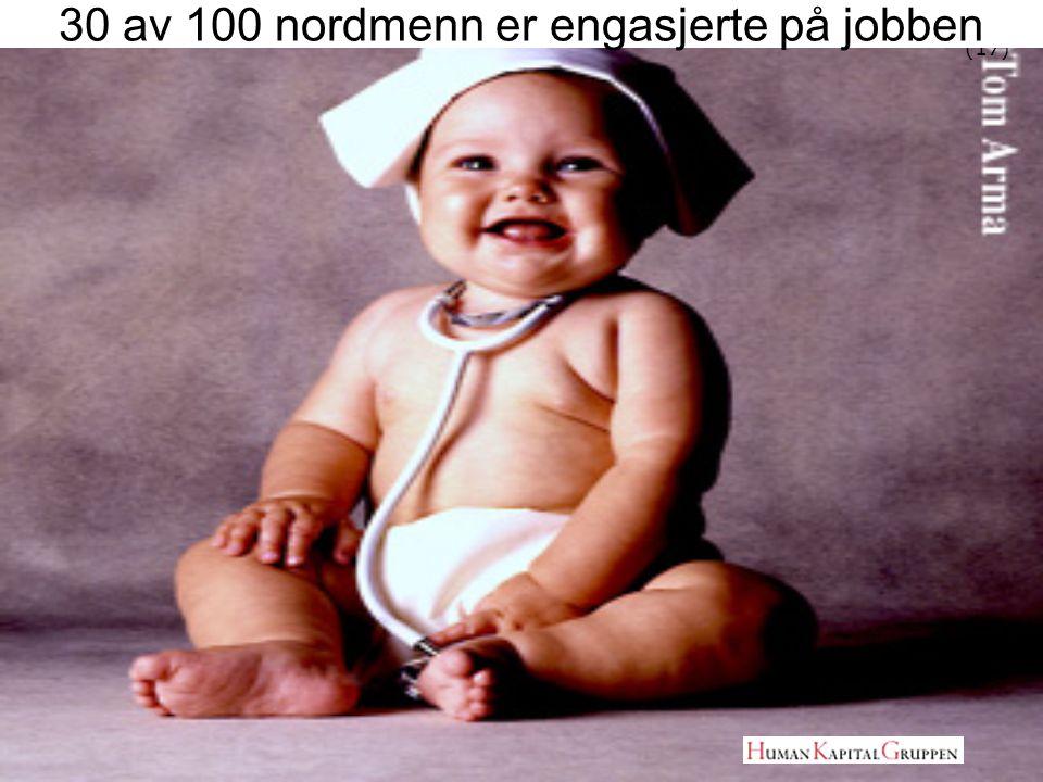 (17) 30 av 100 nordmenn er engasjerte på jobben