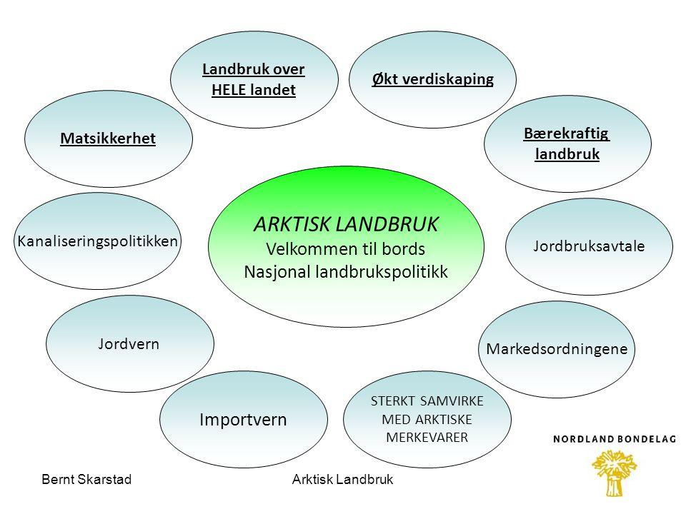 Arktisk landbruk Organisering Nord Norsk Landbruksråd Formelt beslutning, prosjekteier Velge forprosjektgruppe Gi mandat til forprosjekt Finansiering av forprosjekt Bernt SkarstadArktisk Landbruk