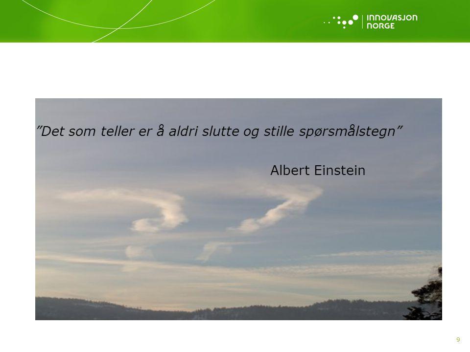 """9 """"Det som teller er å aldri slutte og stille spørsmålstegn"""" Albert Einstein"""