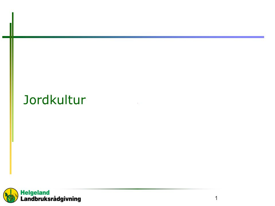 Jordkultur 1