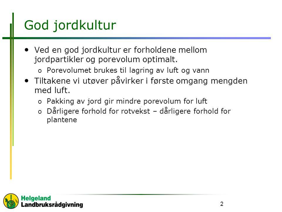 God jordkultur Ved en god jordkultur er forholdene mellom jordpartikler og porevolum optimalt.