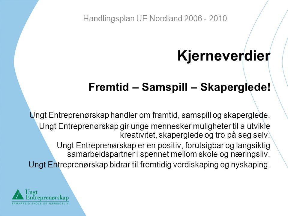 Handlingsplan UE Nordland 2006 - 2010 Kjerneverdier Fremtid – Samspill – Skaperglede.