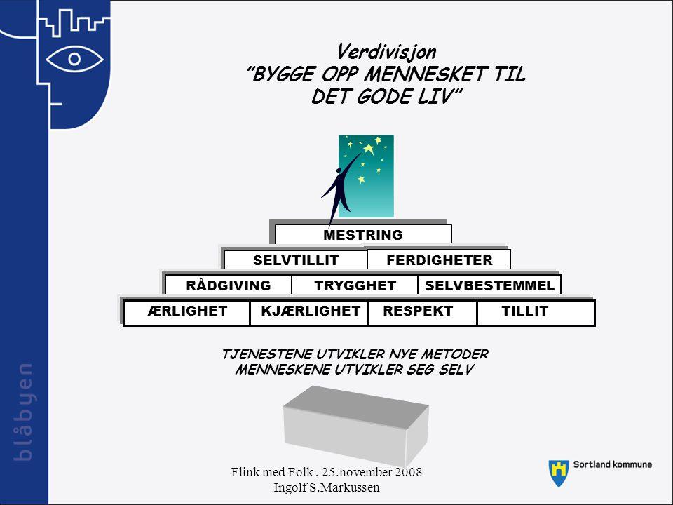 Flink med Folk, 25.november 2008 Ingolf S.Markussen Om å lykkes Om jeg vil lykkes i å føre et menneske mot et bestemt mål, må jeg først finne mennesket der det er, og begynne akkurat der. Søren kierkegaard 1813 - 1855