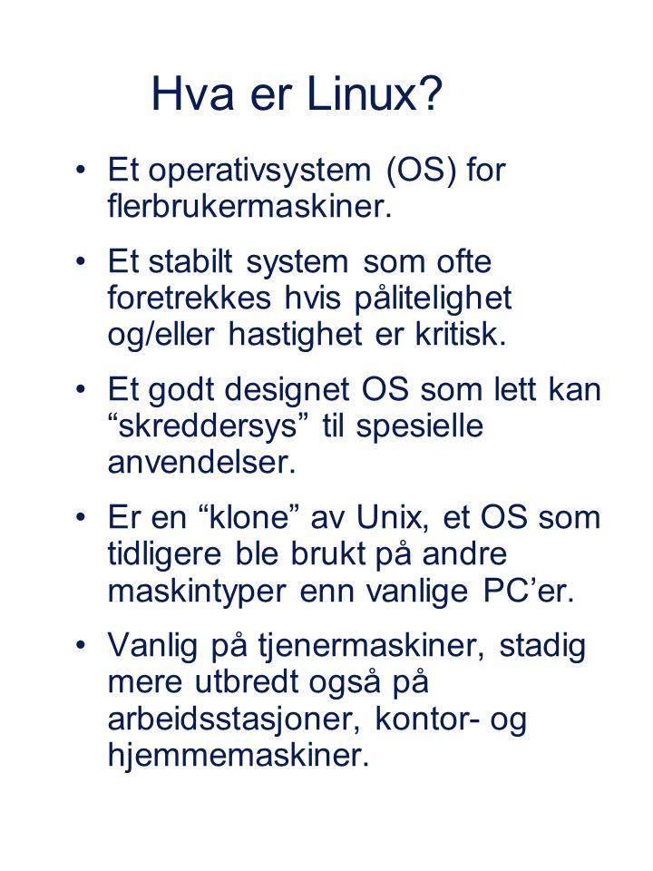 Et operativsystem (OS) for flerbrukermaskiner.