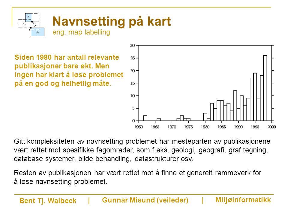eng: map labelling Navnsetting på kart Siden 1980 har antall relevante publikasjoner bare økt.