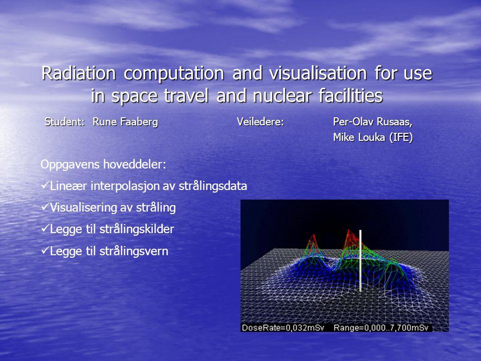 Lineær interpolasjon av strålingsdata Strålingsmålinger er ofte laget som spredte data.