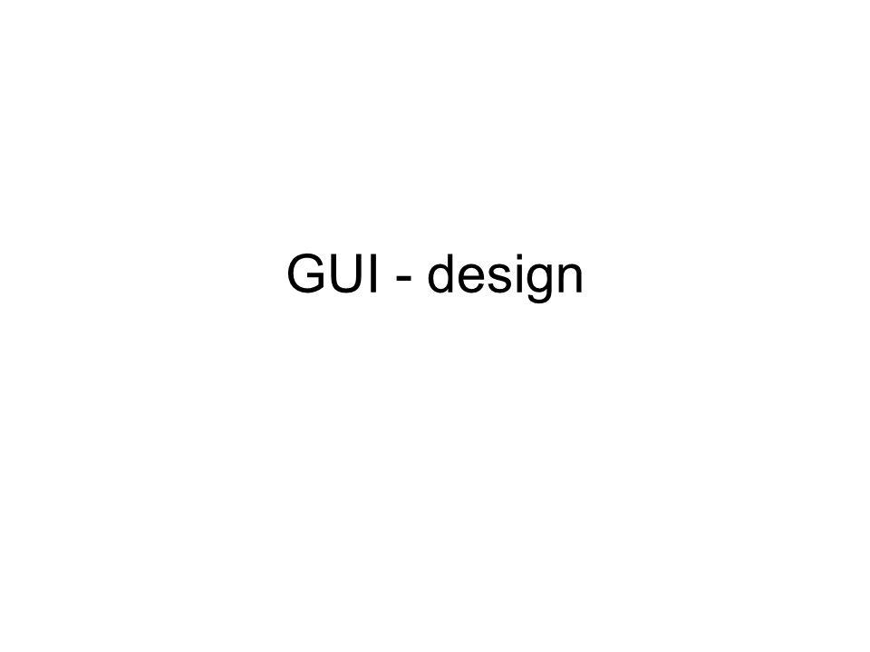 GUI - design