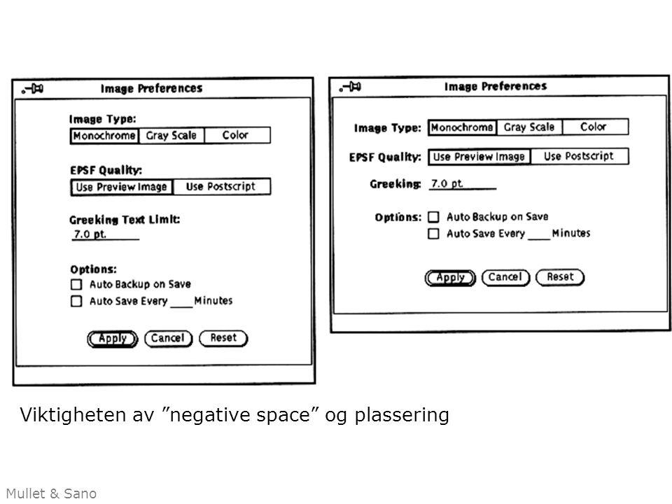 Viktigheten av negative space og plassering Mullet & Sano