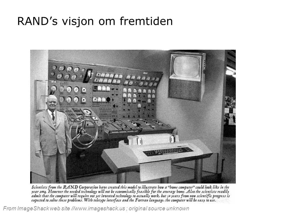 RAND's visjon om fremtiden From ImageShack web site //www.imageshack.us ; original source unknown