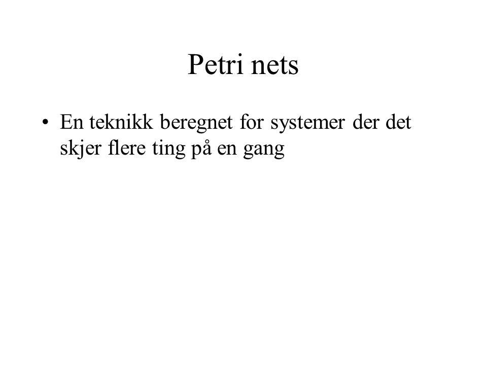 Petri nets En teknikk beregnet for systemer der det skjer flere ting på en gang