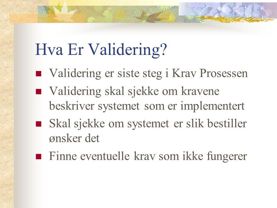 Hva Er Validering.