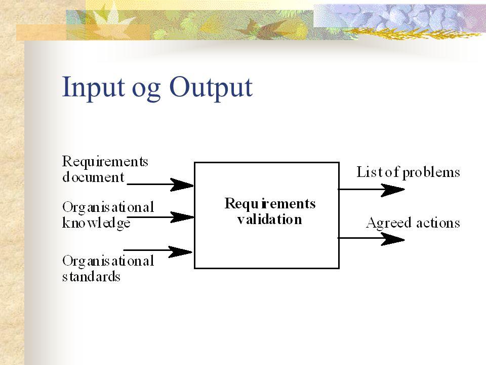 Input og Output