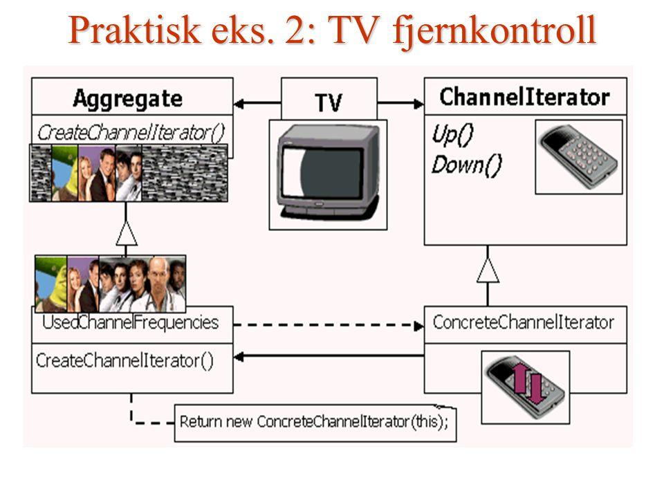 Praktisk eks. 2: TV fjernkontroll