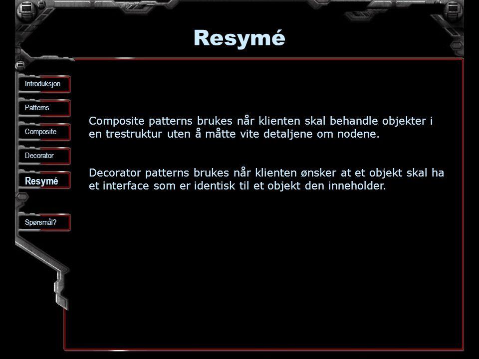 Resymé Patterns Composite Spørsmål.