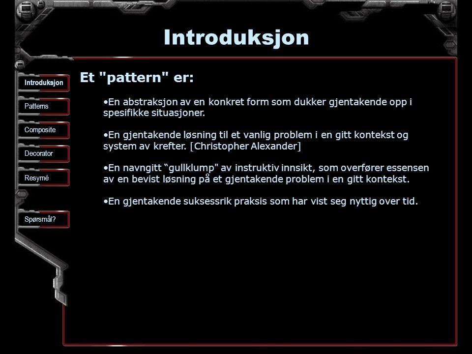 Introduksjon Patterns Composite Spørsmål.