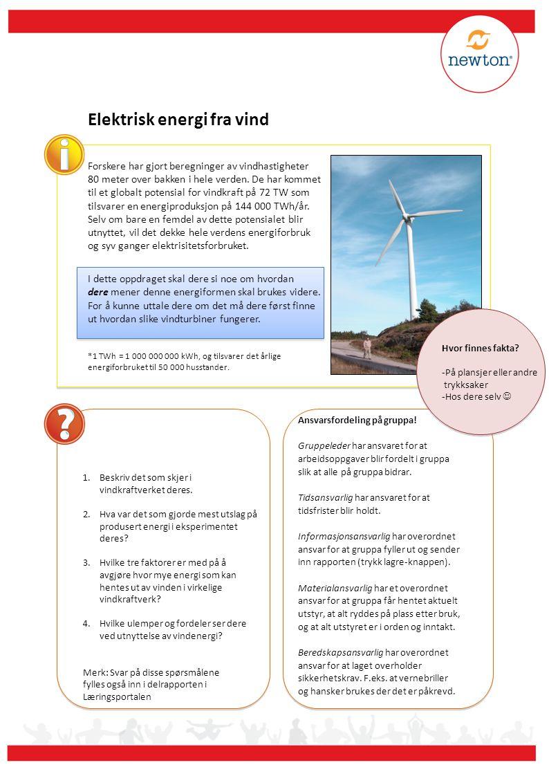 Forskere har gjort beregninger av vindhastigheter 80 meter over bakken i hele verden. De har kommet til et globalt potensial for vindkraft på 72 TW so