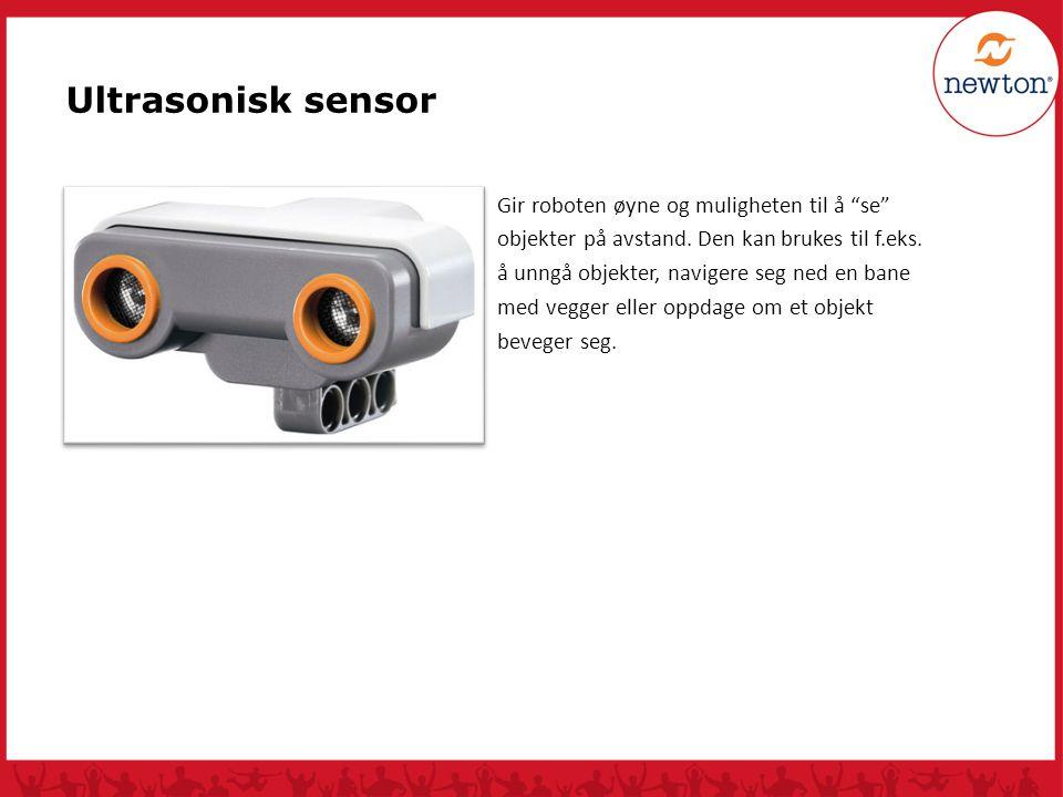 """Gir roboten øyne og muligheten til å """"se"""" objekter på avstand. Den kan brukes til f.eks. å unngå objekter, navigere seg ned en bane med vegger eller o"""