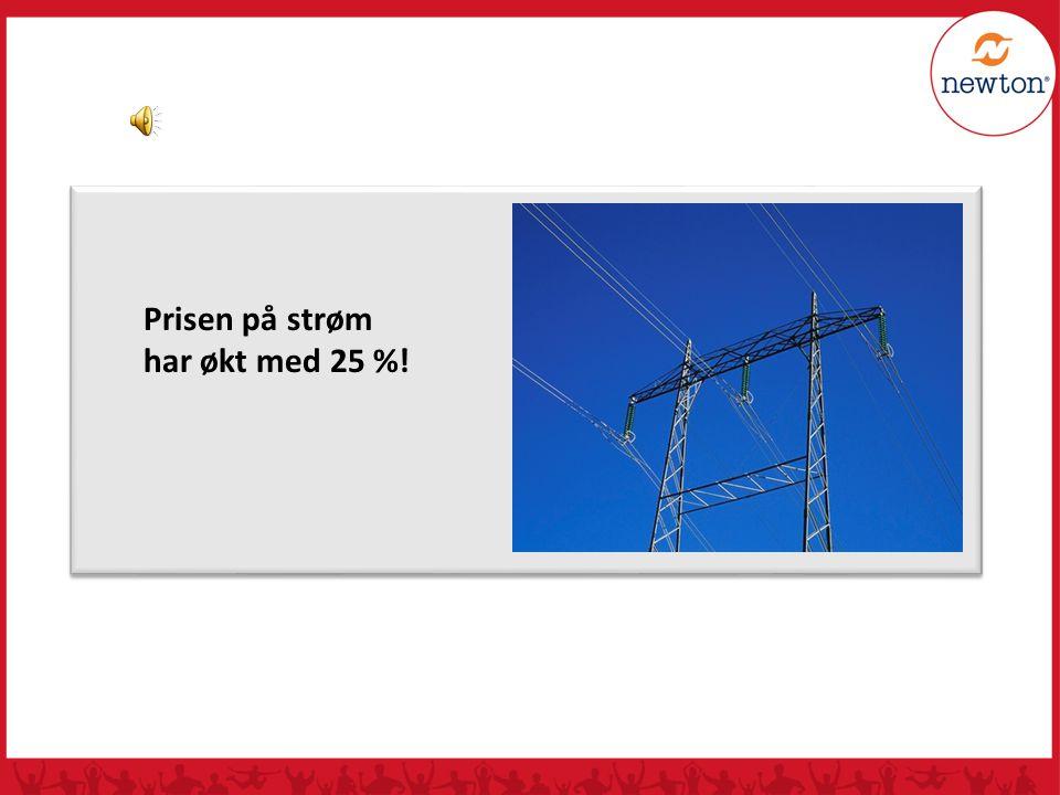 Prisen på strøm har økt med 25 %!