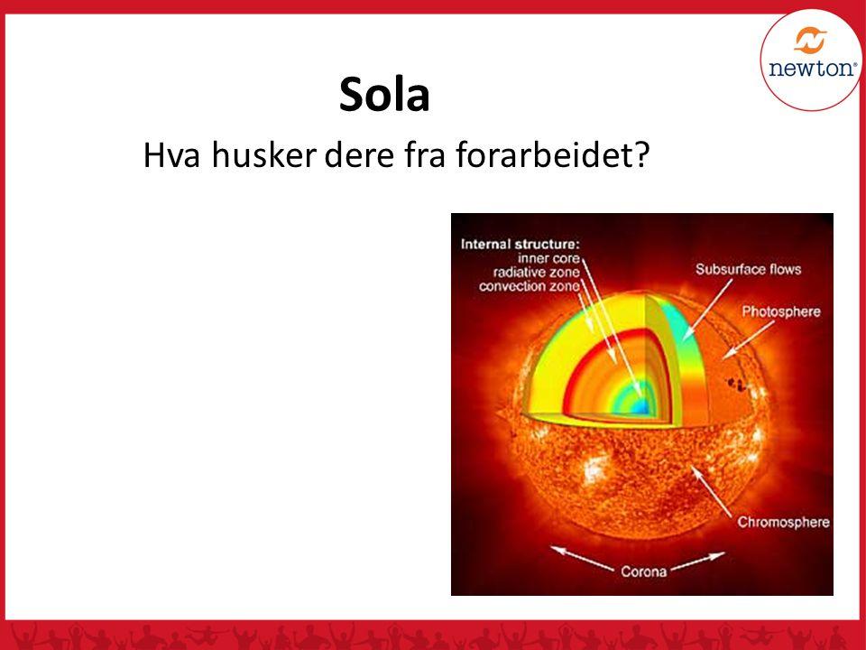 Sola er ei aktiv stjerne