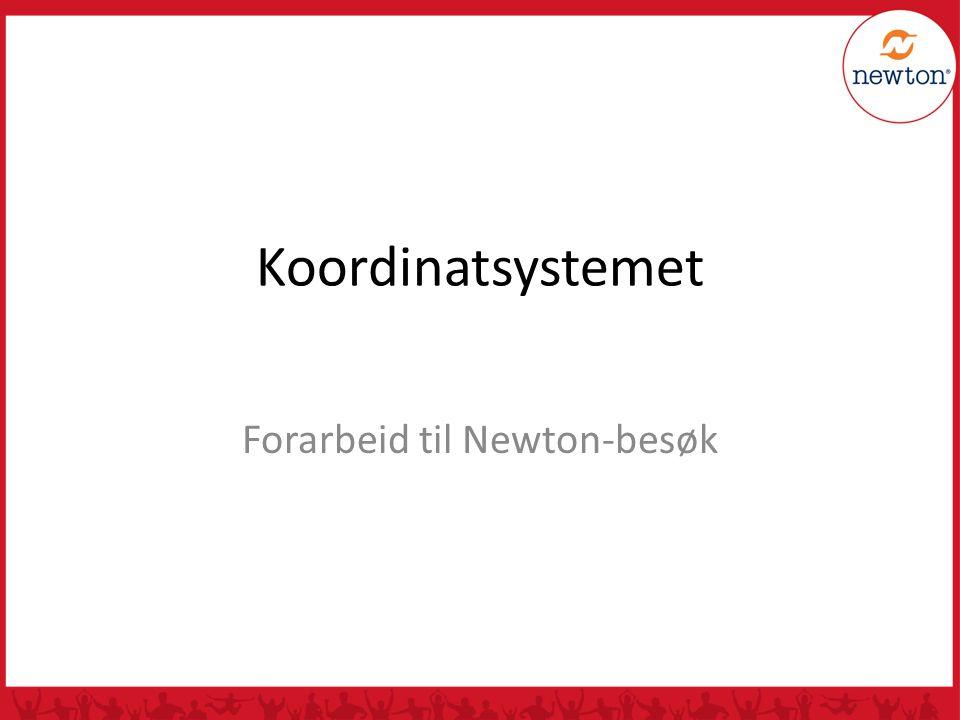 Koordinatsystemet Forarbeid til Newton-besøk
