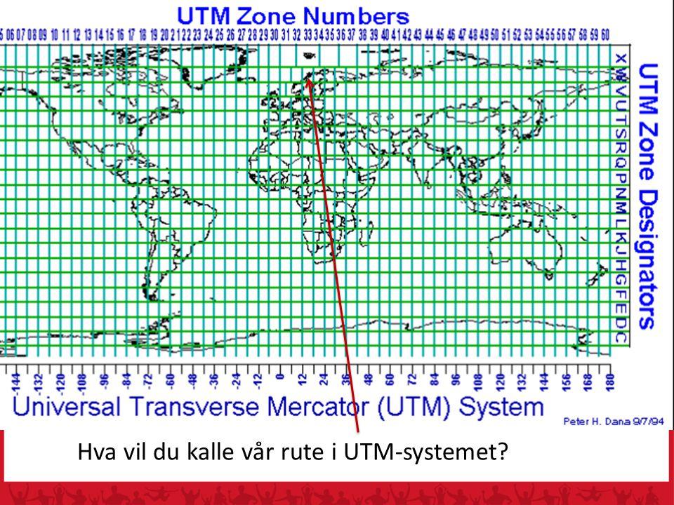Hva vil du kalle vår rute i UTM-systemet?