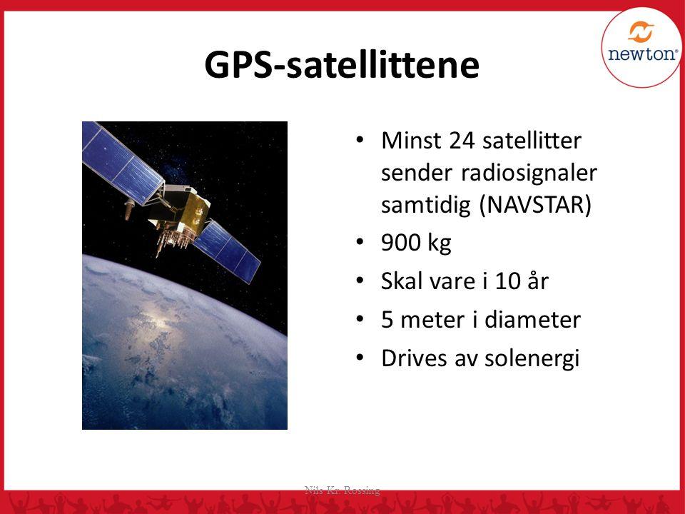 GPS-satellittene Går i middels høy bane ca. 22 000 km over jordoverflata