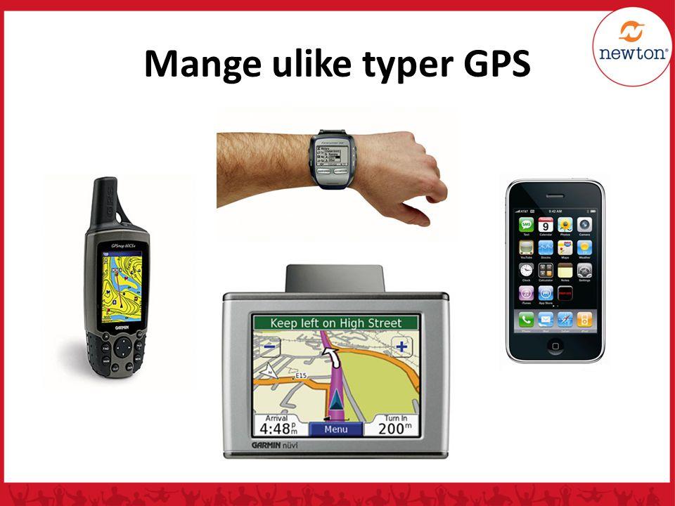 Mange ulike typer GPS