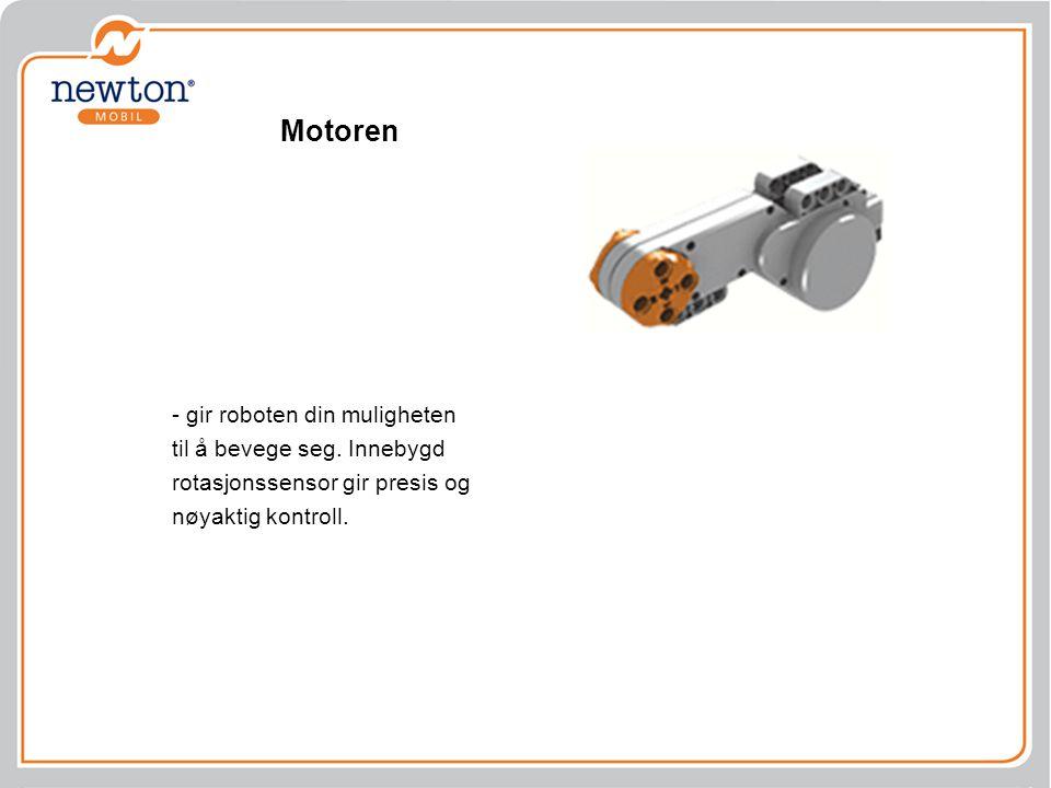 Motoren - gir roboten din muligheten til å bevege seg. Innebygd rotasjonssensor gir presis og nøyaktig kontroll.