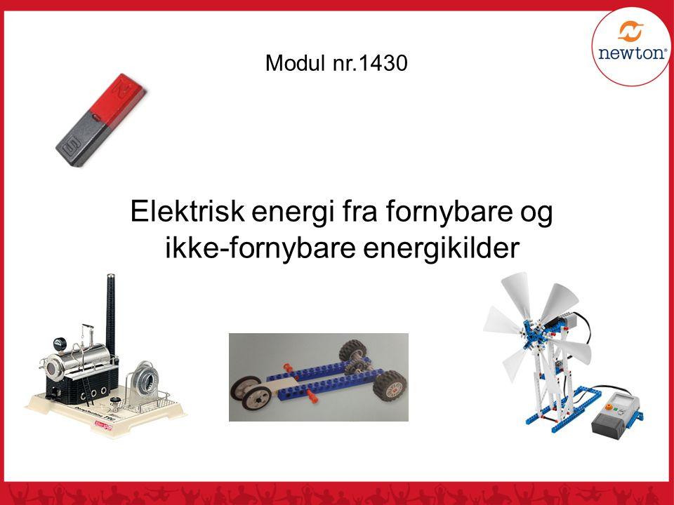 Modul nr.1430 Elektrisk energi fra fornybare og ikke-fornybare energikilder