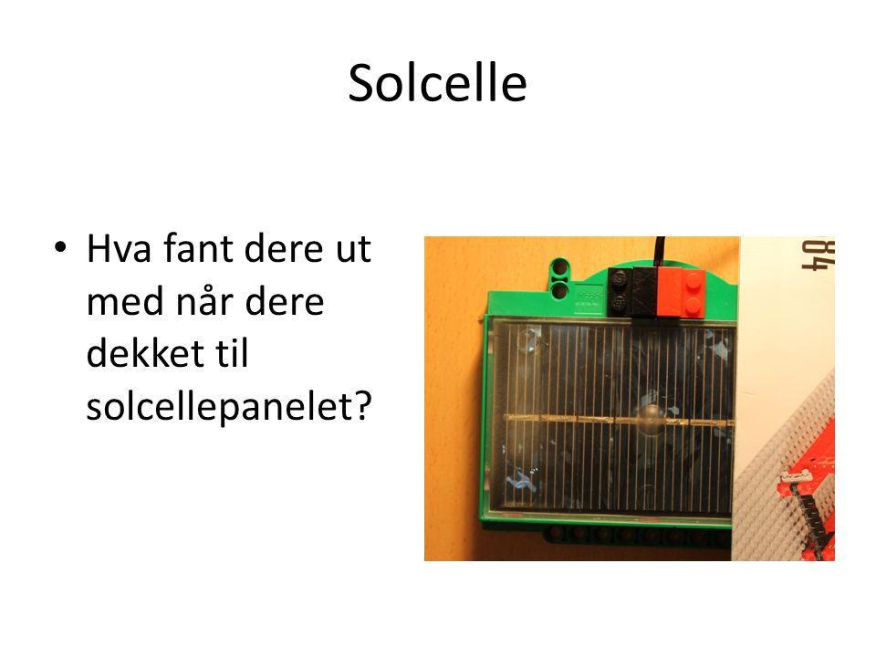 Solcelle og skydekke Hvordan vil solcellene fungere i lettskyet vær.