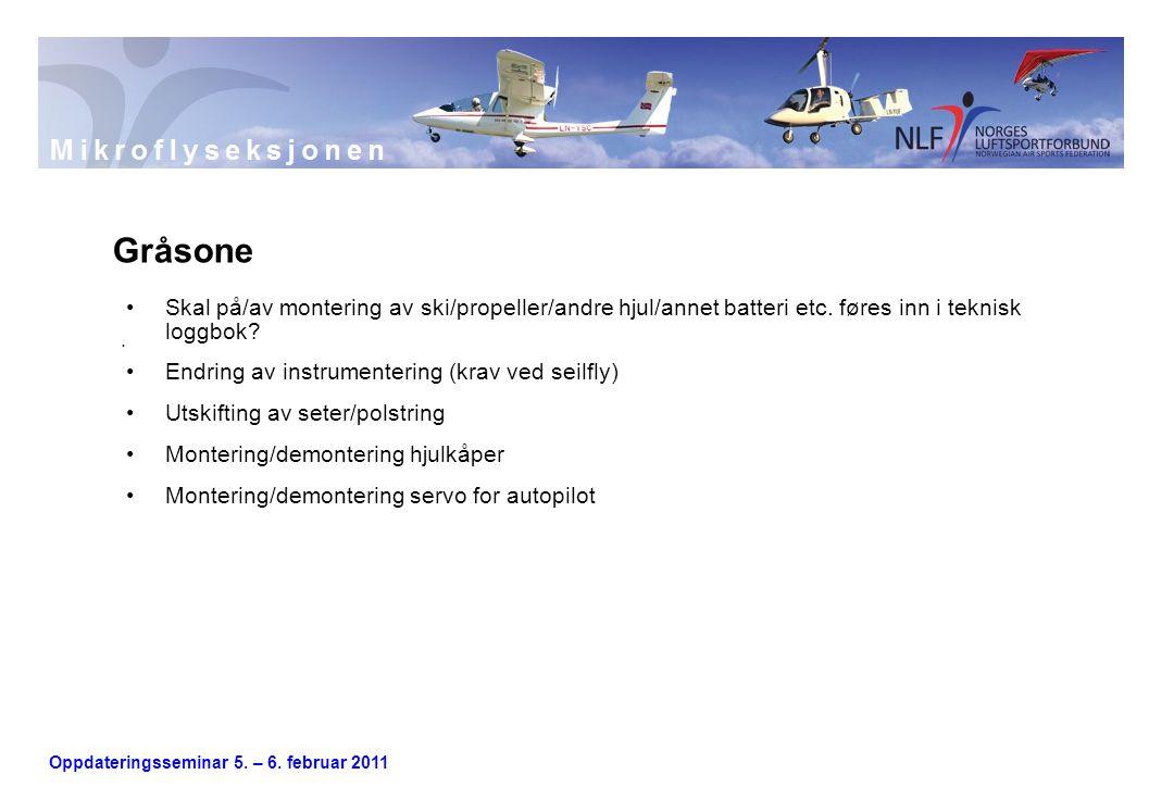 Oppdateringsseminar 5. – 6. februar 2011.