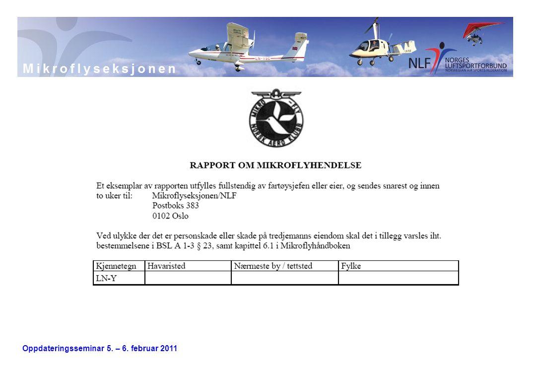 Oppdateringsseminar 5. – 6. februar 2011