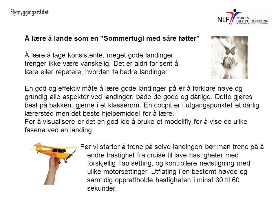 Å lære å lande som en Sommerfugl med såre føtter Å lære å lage konsistente, meget gode landinger trenger ikke være vanskelig.
