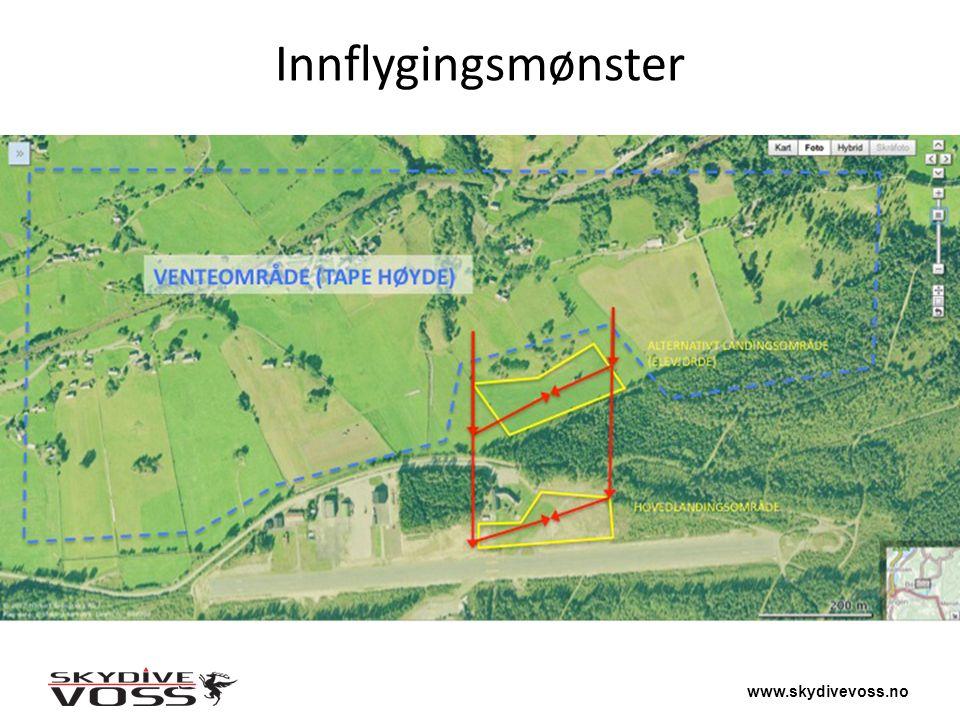 www.skydivevoss.no Innflygingsmønster