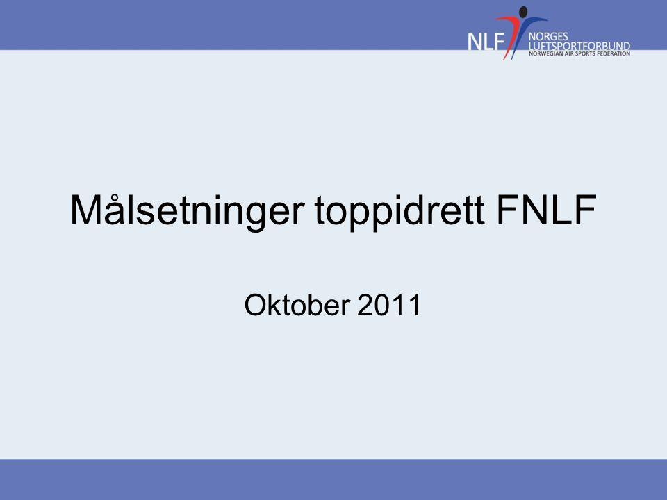 Bakgrunn Dokumentet beskriver FNLF sine målsetninger for toppidrett Gjelder ut Tingperioden 2013.
